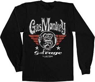 Gas Monkey Garage Officially Licensed Merchandise GMG Flying High Long Sleeve Tee (Black), X-Large