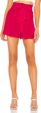 J.O.A. Pleated Waist Tie Short in Pink