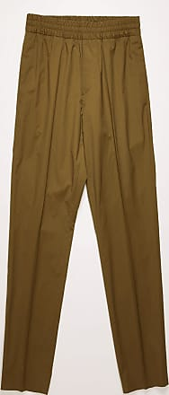 Acne Studios FN-MN-TROU000267 Hunter green Elastic-waist cotton trousers