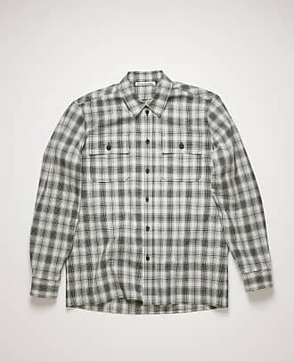 Acne Studios FN-MN-SHIR000282 Black/mint blue Checked flannel shirt