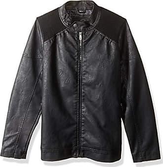 Urban Republic Mens Faux Leather Jacket, Black, M