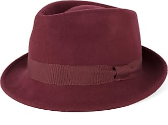 Hat To Socks Wine Red Wool Trilby Hat with Grosgrain Band Handmade in Italy