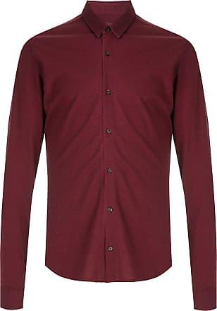 HUGO BOSS Camisa Extra-slim fit canelada - Vermelho
