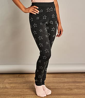 5918132ac6914 WoolOvers Womens Star Lounge Leggings Charcoal/Silver