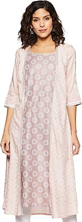 Aurelia Womens Rayon a-line Kurta (19AUA10757-500549_ Pink_ Xx-Large)