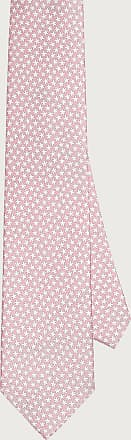 Salvatore Ferragamo Men Silk tie with starfish print Pink
