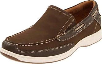 Florsheim Mens Lakeside Slip Boat Shoe, Brown, 10.5 W US