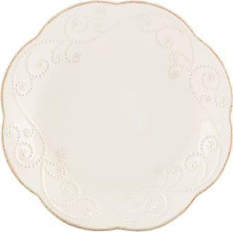 Lenox French Perle Dessert Plates, White, Set of 4