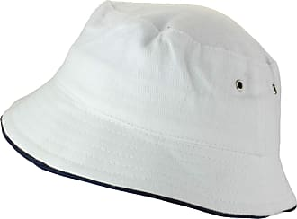 2Store24 Fishing Hat in White/Navy Size S/M