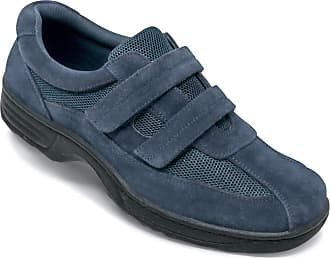 Chums Mens Shoe Wide Fit Touch Fasten with Gel Pad Navy 12 UK