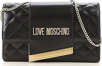 Moschino Shoulder Bag for Women On Sale, Black, Leather, 2017, one size