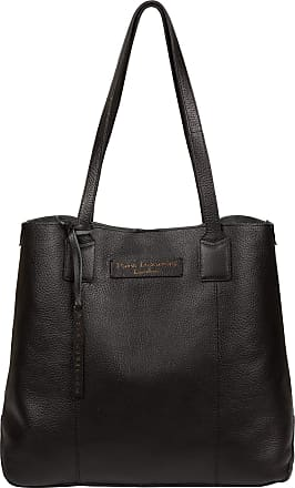 Pure Luxuries London Pure Luxuries London Ruxley Womens 37cm Biodegradable Leather Tote Bag with Magnetic Stud Secured Open Top, Unlined Central Compartment and Matching L