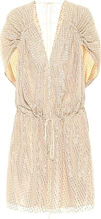 Stella McCartney Fil-coupé silk minidress