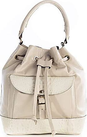 Andrea Vinci Bolsa saco com bolso em couro legítimo marfim