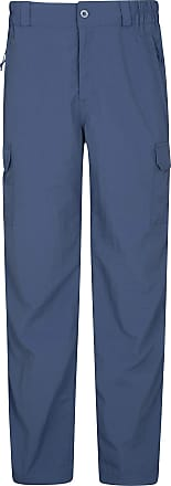 Mountain Warehouse Explore Mens Trousers - Shrink & Fade Resistant Hiking Pants, Quick Drying Winter Trousers, Multiple Pockets Blue 32W