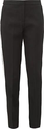 Burberry Hanover Tailored Satin-stripe Wool Trousers - Womens - Black White