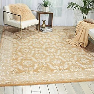 Nourison Symphony (SYM08) Gold Rectangle Area Rug, 5-Feet 6-Inches by 7-Feet 5-Inches (56 x 75)