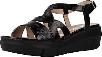 Wonders Women Sandals and Slippers Women D8231 Black 3.5 UK