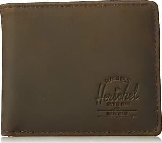 Herschel Herschel Unisexs Hank Leather RFID Wallet Bi-Fold, Nubuck Brown, One Size