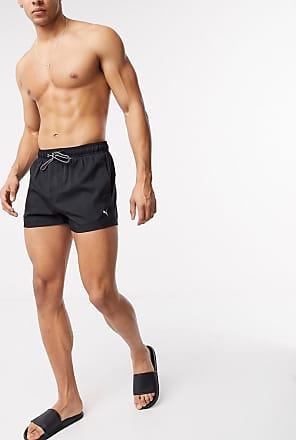 Puma short length swim shorts in black