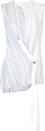 Yigal AzrouËl striped wrap sleeveless top - Blue