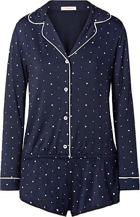 Eberjey Gisele Printed Stretch-jersey Playsuit - Midnight blue