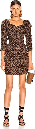 Nicholas Ruched Mini Dress in Brown
