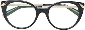 Bvlgari Armação de óculos gatinho - Preto