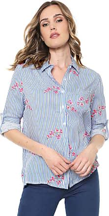 Facinelli by MOONCITY Camisa Facinelli by MOONCITY Listrada Cerejeira Azul/Branca