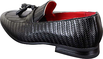 Fiorelli Mens Classic Vintage Tassel PU Leather Driving Shoes Loafers Smart Casual