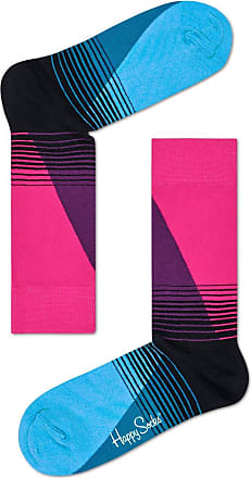 Happy Socks Mens and Ladies 1 Pair Happy Socks 80s Fade Combed Cotton Socks - Red 7.5-11.5