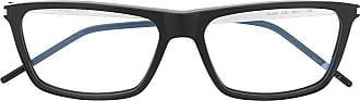 Saint Laurent Eyewear Armação de óculos quadrada preta - Preto
