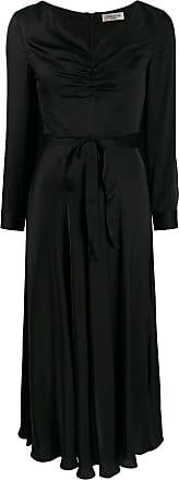 Jovonna London Vestido midi Modernista com franzido - Preto