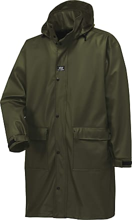 Helly Hansen Workwear Impertech Guide Long Fishing and Rain Coat, Green Brown, 2XL