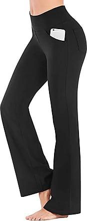 Dresswel Bootcut Yoga Pants for Women High Waist Workout Bootleg Pants Tummy Control Workout Trousers