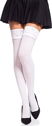 20 Denier Hold Ups Striped Stockings by Romartex S-XL 2 Colors