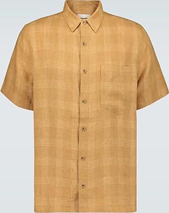 Nanushka Kariertes Leinenhemd Adam