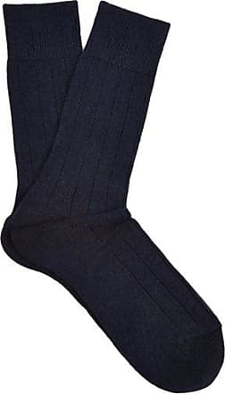 Falke Lhasa Wool And Cashmere-blend Socks - Mens - Navy