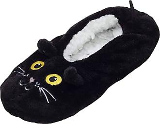 Foxbury Womens/Ladies Cat Slipper Socks (S/M) (Black)
