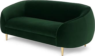 MADE.COM Trudy 2-Sitzer Sofa, Samt in Tannengruen