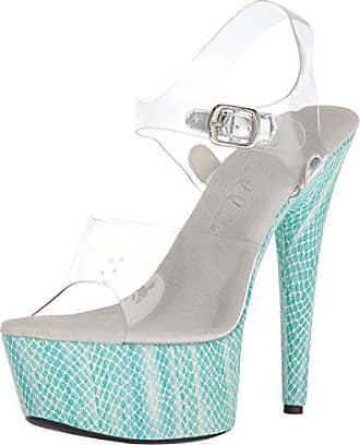 Ellie Shoes Frauen Platform Sandalen Blau Groesse 8 US  39 EU 5ce93d95b3