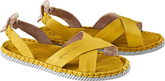 Chaaya Cross-Strap-Sandale, Gelb, Damen