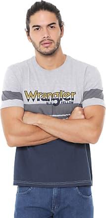 Wrangler Camiseta Wrangler Listras Cinza/Azul-Marinho