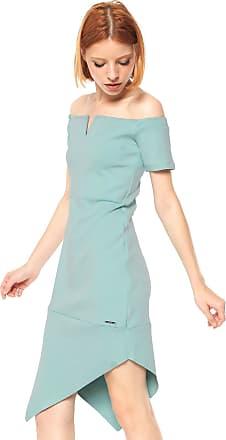 Colcci Vestido Colcci Curto Assimétrico Azul