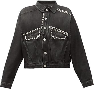 Martine Rose Studded Cotton-denim Jacket - Womens - Black