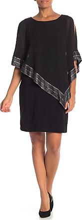 S.L. Fashions Foil Trim Popover Dress