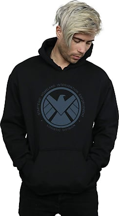 Absolute Cult Marvel Mens Agents of Shield Logistics Division Hoodie Black XXXXX-Large