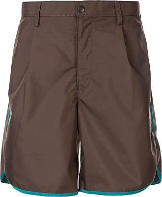 Kolor contrast piped shorts - Brown