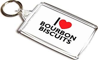 ILoveGifts KEYRING - I Love Bourbon Biscuits - Novelty Food & Drink Gift