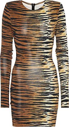 Alexandre Vauthier Tiger jersey minidress